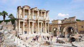 Библиотека Celsus древнего города Ephesus акции видеоматериалы