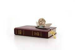библия ангела стоковое фото