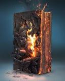 Библия и огонь стоковое фото rf