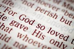 Библейский текст Стоковая Фотография