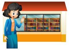 Библиотекарь вне библиотеки иллюстрация штока