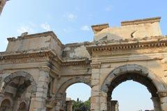 Библиотека в руинах Ephesus античных древнего города в Турции Стоковая Фотография