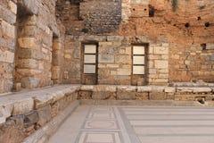 Библиотека в руинах Ephesus античных древнего города в Турции Стоковые Изображения