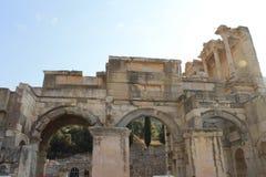 Библиотека в руинах Ephesus античных древнего города в Турции Стоковые Фото