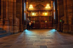 Библиотека Джона Rylands в Манчестере, Великобритании Стоковые Фотографии RF