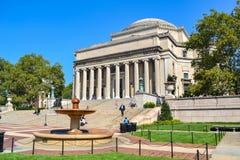 Библиотека Колумбийского университета и квад Нью-Йорк Стоковые Изображения RF