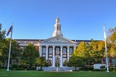Библиотека на коммерческой школе Гарварда Стоковая Фотография RF