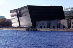 Библиотека черного алмаза грандиозная, Дания Стоковое Изображение
