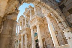 Библиотека Celsus в Ephesus стоковое изображение rf