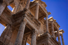 Библиотека Celsus, Ephesus, Турция Стоковая Фотография