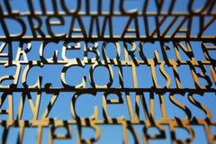 Библия выражать скульптуру текста, немецкие цитаты библии Стоковое Изображение