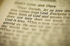 Библия имеет сообщение стоковое фото rf