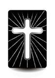 Библия и крест, ореол Стоковое Фото