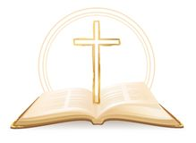 Библия и крест Стоковые Изображения RF