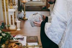 Библия церков алтара миражирует значок кроны перекрестный Стоковая Фотография RF