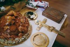 Библия церков алтара миражирует значок кроны перекрестный Стоковое Фото