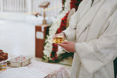 Библия церков алтара миражирует значок кроны перекрестный Стоковые Фотографии RF