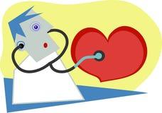 биение сердца иллюстрация штока