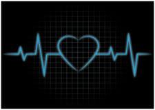 Биения сердца, EKG Стоковые Фото