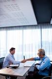 2 бизнесмена давая рукопожатие Стоковые Фотографии RF