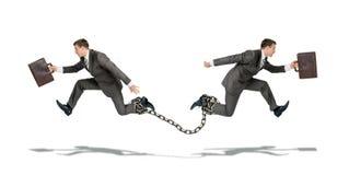 2 бизнесмена бежать в других способах Стоковая Фотография