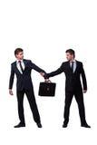 2 бизнесмена близнецов споря друг с другом изолированный на белизне Стоковое Фото