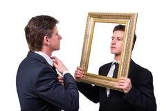 2 бизнесмена близнецов споря друг с другом изолированный на белизне Стоковые Фото