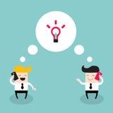 2 бизнесмена говоря коллегами телефона Иллюстрация штока