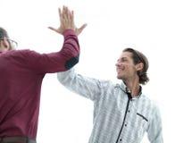 2 бизнесмена давая одину другого высокие 5 Стоковые Изображения RF