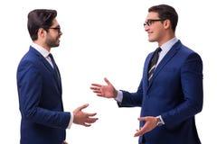 2 бизнесмена изолированного на белой предпосылке Стоковые Изображения