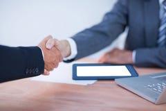 2 бизнесмена коллег тряся руки Стоковые Изображения RF