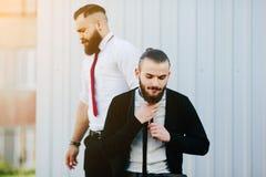 2 бизнесмена подготовленного работать Стоковое фото RF
