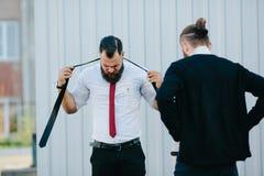2 бизнесмена подготовленного работать Стоковые Изображения RF