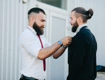 2 бизнесмена подготовленного работать Стоковые Изображения