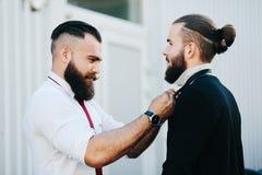 2 бизнесмена подготовленного работать Стоковая Фотография