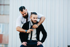2 бизнесмена подготовленного работать Стоковое Изображение