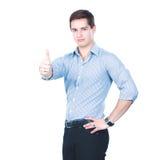 2 бизнесмена стоя изолированный на белой предпосылке Стоковая Фотография