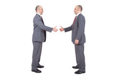 Бизнесмены трястия руки Стоковое Изображение RF