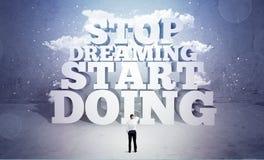 Бизнесмену испуган и нужна мотивировка Стоковое Изображение RF