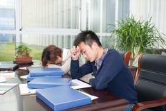 Бизнесмены давления сна Стоковое Фото