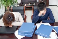 Бизнесмены давления сна Стоковое Изображение