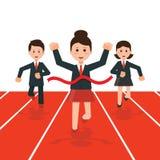 Бизнесмены бежать конкуренция гонки иллюстрация вектора