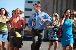 бизнесмены бежать Стоковые Фотографии RF