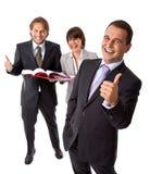 бизнесмены больших пальцев руки вверх Стоковые Изображения