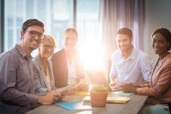 Бизнесмены во время встречи Стоковое Изображение RF