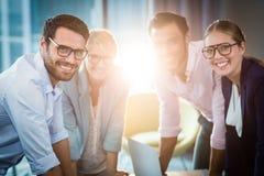 Бизнесмены во время встречи Стоковые Изображения RF