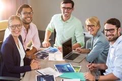 Бизнесмены во время встречи Стоковые Изображения