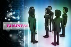 бизнесмены Водительство и команда Стоковые Фотографии RF