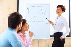 Бизнесмены встречая в офисе для того чтобы обсудить проект Стоковые Изображения RF