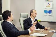Бизнесмены встречая концепцию обсуждения конференции корпоративную, Стоковая Фотография